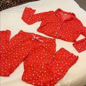 Red Heart Pajama Set!